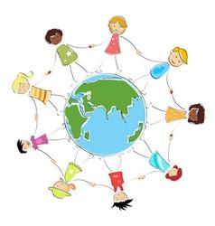 global children image vector image