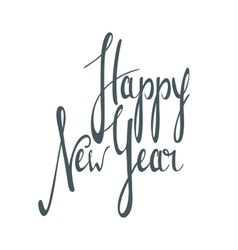 Hand written inscription Happy New Year vector image