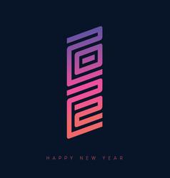 Happy new year 2022 brochure or calendar design vector