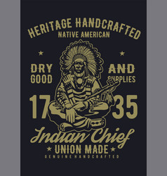 heritage native vector image