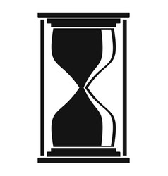 Hourglass icon simple black style vector