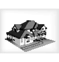 House made from dots vector
