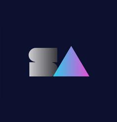 Initial alphabet letter sa s a logo company icon vector