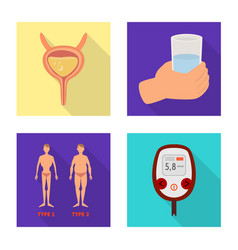 Isolated object symptom and disease icon set vector