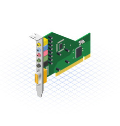 Isometric Sound Card vector image