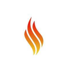 letter s abstract fire flame logo icon vector image