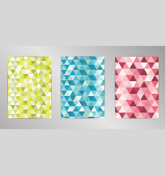 mosaic cover design background set a4 format vector image