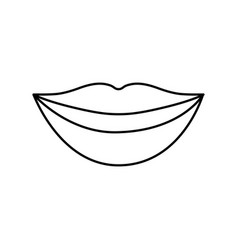 Mouth smiling icon vector