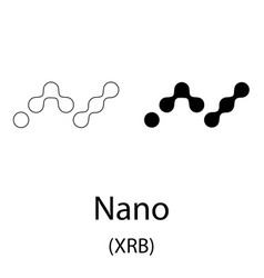 nano black silhouette vector image
