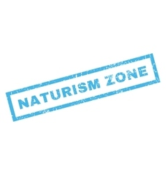 Naturism Zone Rubber Stamp vector image