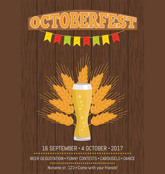 Octoberfest creative poster information holiday vector