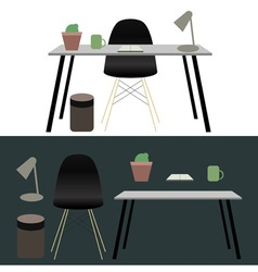 Office workplace concept design vector image