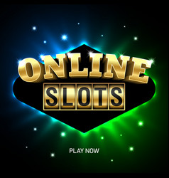 online slots casino banner play now vector image