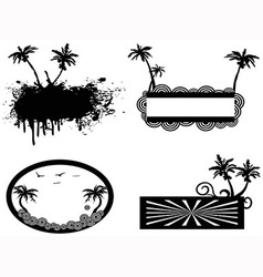 palm tree frame vector image