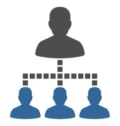 People Hierarchy Toolbar Icon vector