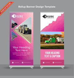 Polygonal rollup banner with mesh effect vector