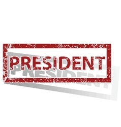 PRESIDENT outlined stamp vector