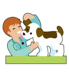 Puppy and Vet vector