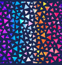 rainbow triangle seamless texture vector image