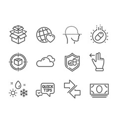 Set business icons such as packing boxes vector