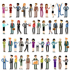 set business people office workers vector image