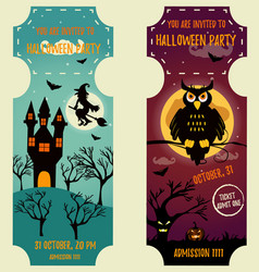 set halloween backgrounds with bright vector image