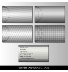 Set of metallic themed business card templates vector image