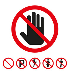 sign of the stop icon on white background vector image