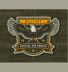 Special air forces colorful badge vector