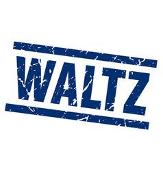 Square grunge blue waltz stamp vector