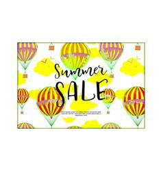 summer sale concept labels vector image