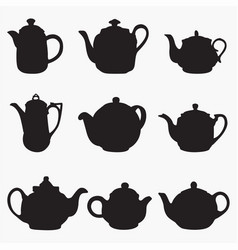 teapot 1 silhouettes vector image