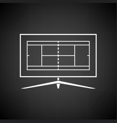 Tennis tv translation icon vector