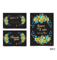 Trendy card with roses for weddings save the date vector