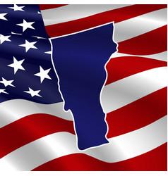 united states vermont dark blue silhouette vector image