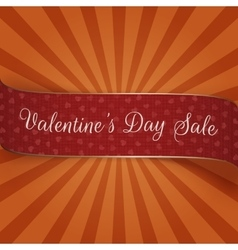 Valentines Day Sale Banner with Hearts Pattern vector