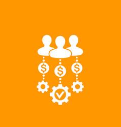 Venture capital investors icon vector