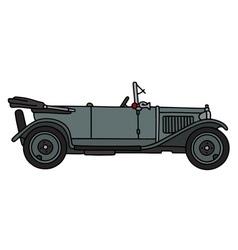 Vintage gray cabriolet vector