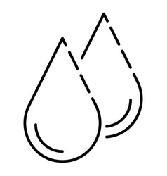 water drop icon outline style vector image