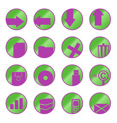 Web icons buttons vector