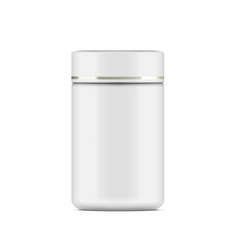 white plastic cosmetic jar for cream or gel vector image