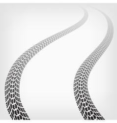 Winding trace terrain tyres vector