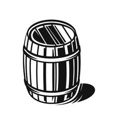 black barrel vector image vector image