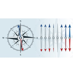 compass with similar arrows vector image vector image