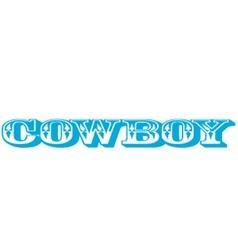 Cowboy type vector image vector image
