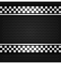 Metallic perforated sheet gray vector image