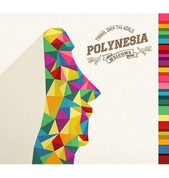 Travel Polynesia landmark polygonal monument vector image vector image