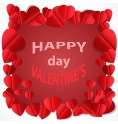 Valentine s day abstract background with cut paper vector image