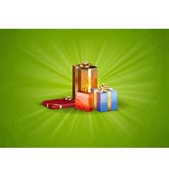 christmas background shine green vector image vector image