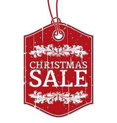 Christmas sale label vector image vector image